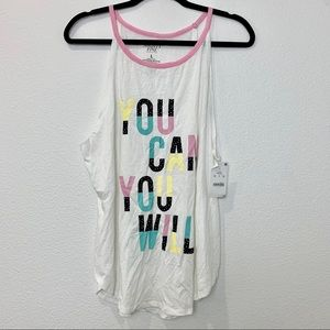Women's graphic you can you will sleeveless top